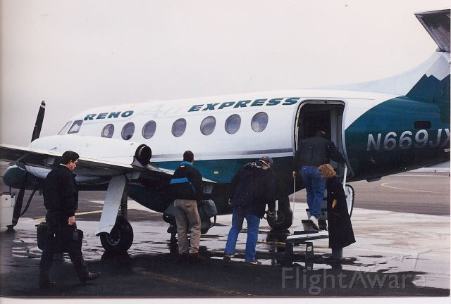 — — - Last Reno Air Express dba Mid Pacific Airlines flight from Medford, OR to San Jose with a stop in Eureka/Arcata March 1995.