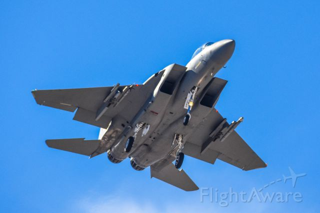 McDonnell Douglas F-15 Eagle (PEL322) - USAF F-15 landing Nellis AFB during Operation Red Flag