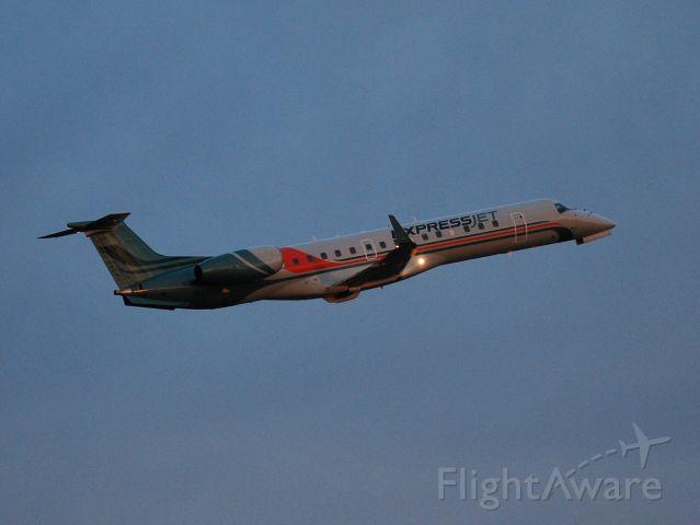 Embraer ERJ-135 (N12167) - Departing from runway 02 at Concord Regional Aiport - 2/15/09 Destination: Daytona