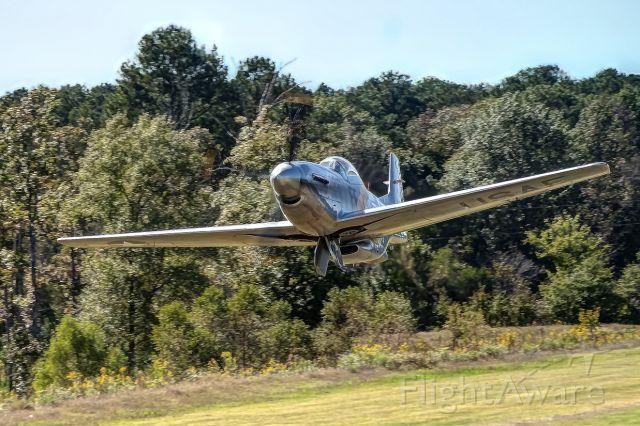 """North American P-51 Mustang (N210D) - P-51 """"Sarah Jean"""" takes off at Greg Koontz"""