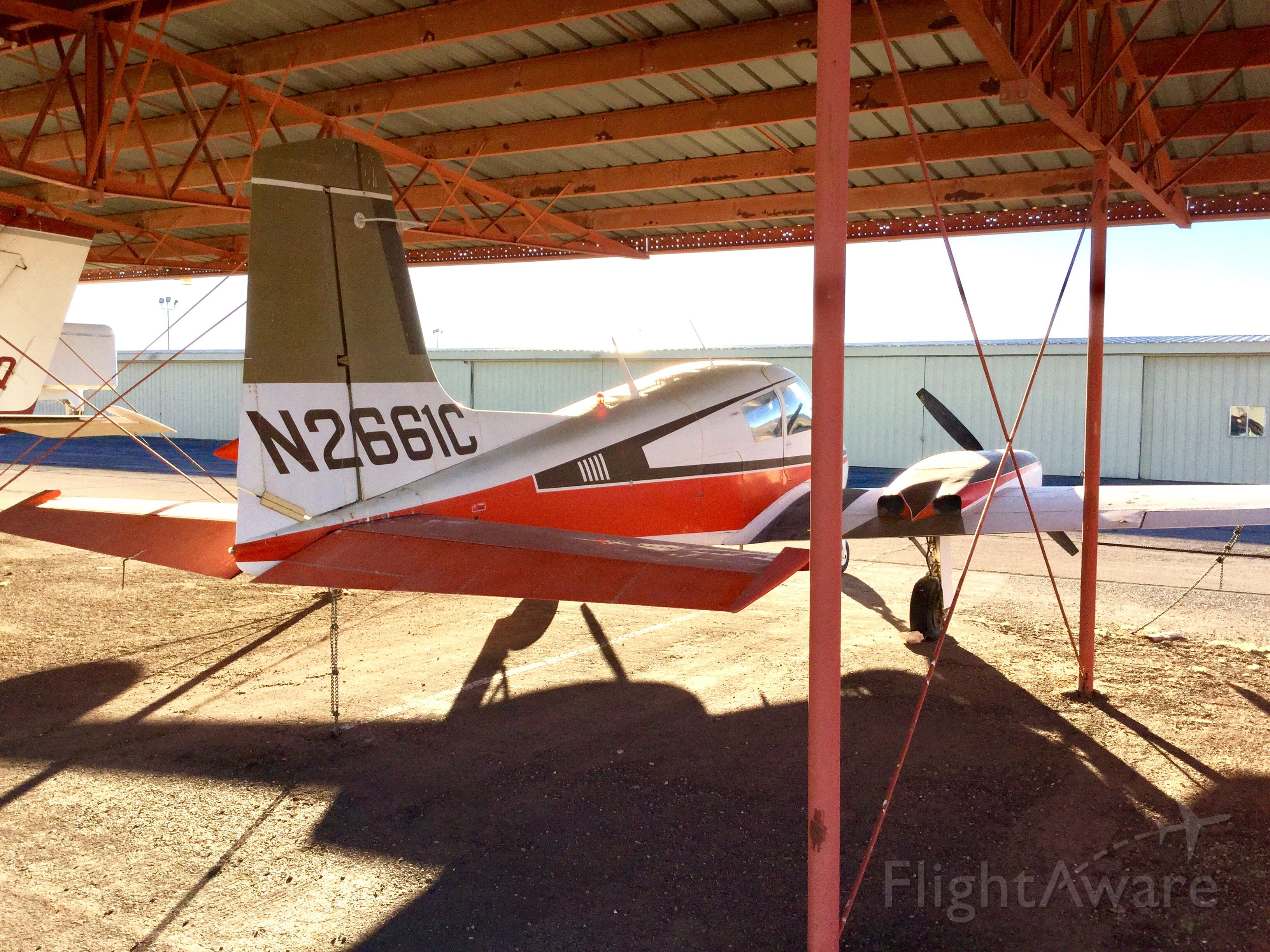 Cessna 310 (N2661C) - This is now a deregistered airplane, and shows to have sat for a very long time.
