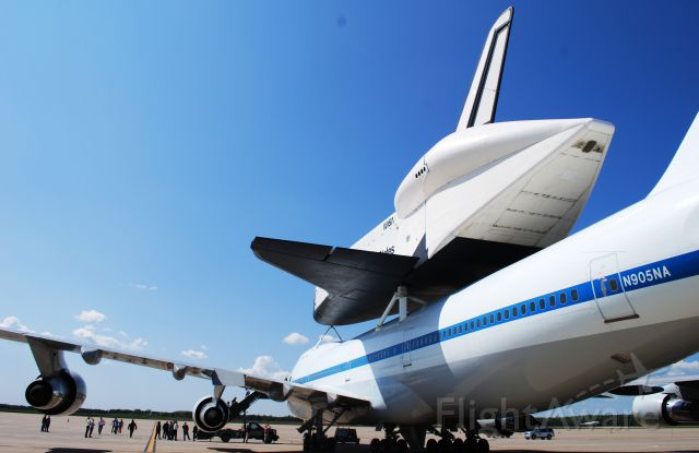 N905NA — - Space Shuttle Enterprise waiting for her transport to USS Intrepid