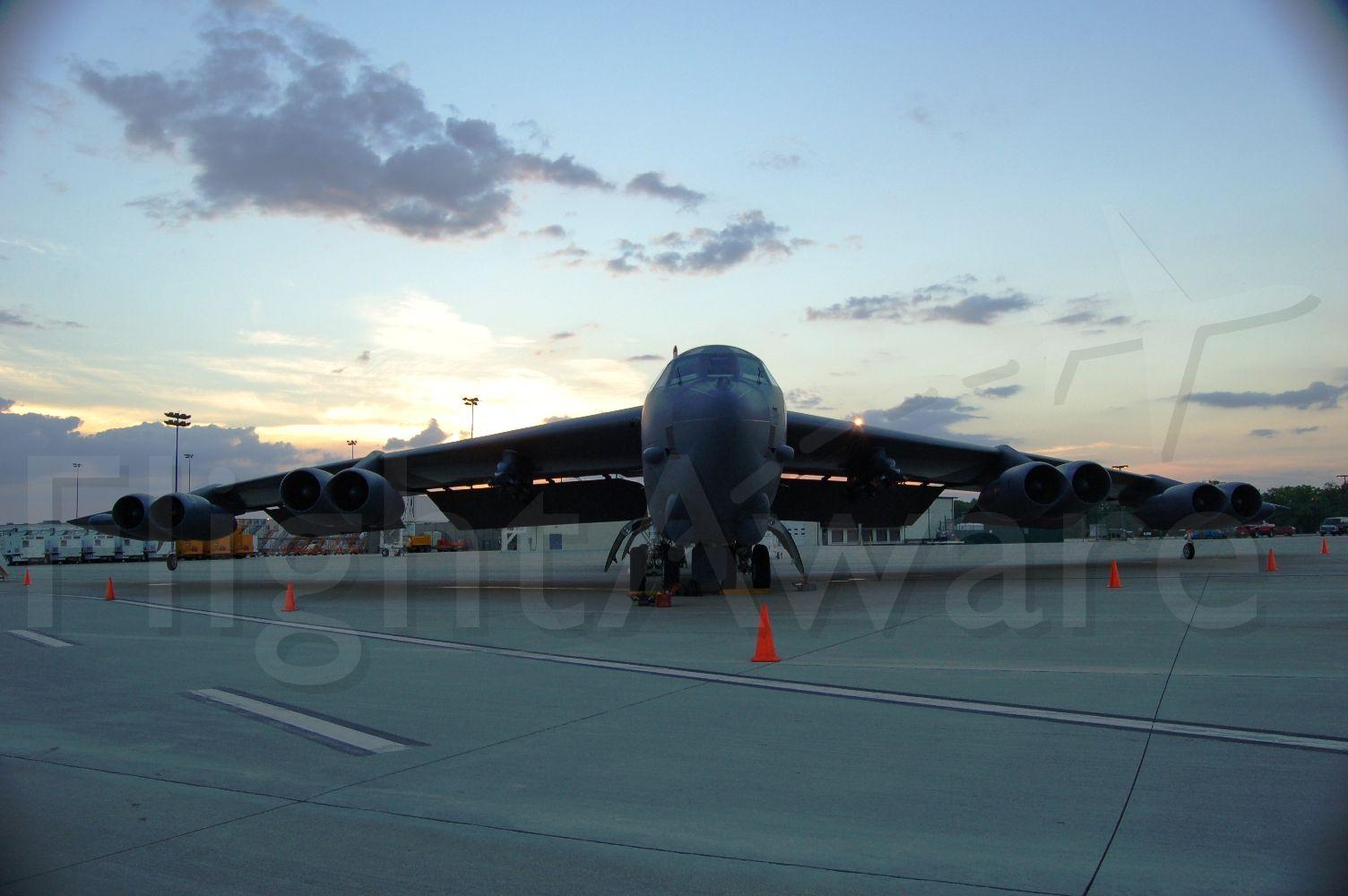 — — - B-52H, at sunset at KRFD. 189
