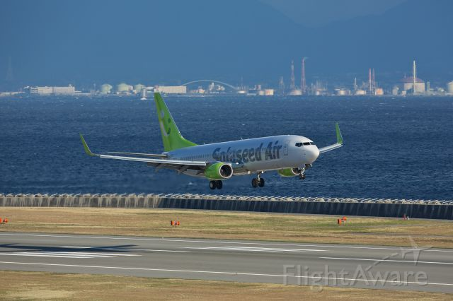 Boeing 737-800 (JA805X) - Solaseed Air  ICAO : SNJ