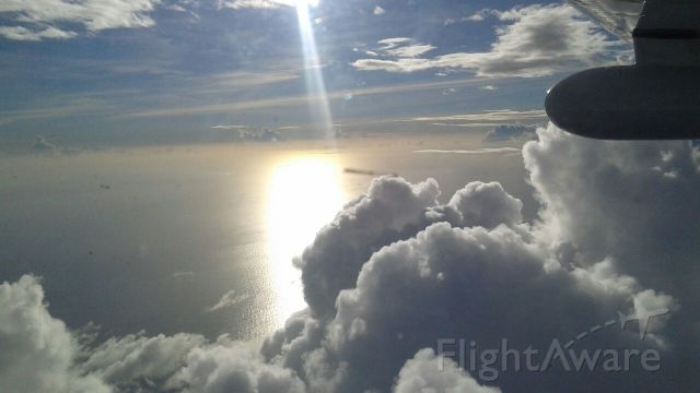 Cessna Centurion (N530HB) - During descent in to Grenada, over southern Caribbean.