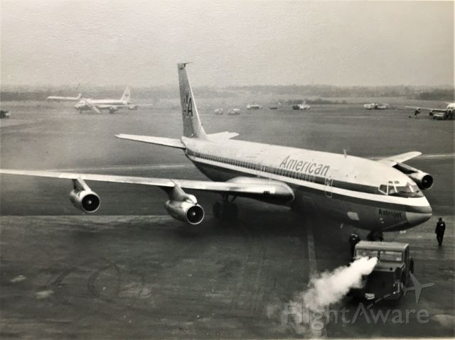 Boeing 707-100 — - From the observation deck at Baltimore Friendship Airport on Jan 1969