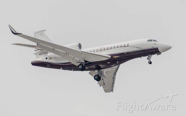 Dassault Falcon 7X (N577CF) - Arriving runway 2L @KDPA.