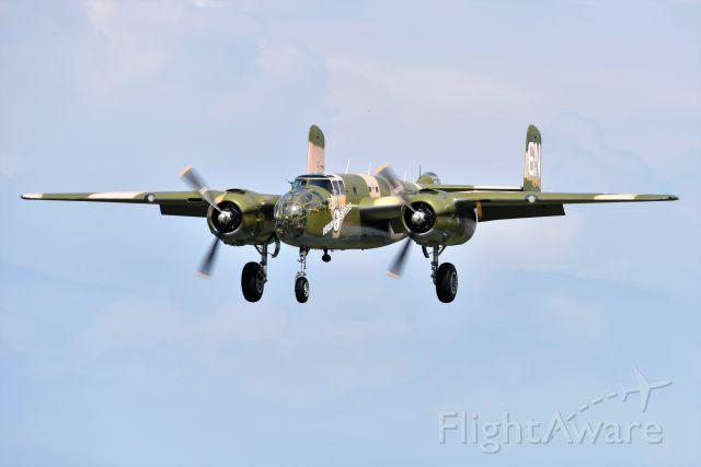 North American TB-25 Mitchell (N10V) - EAA B-25 ON FINAL. 08-26-21