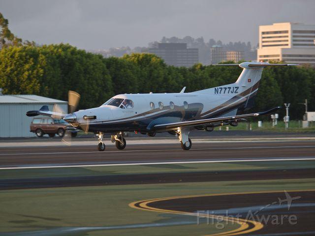 Pilatus PC-12 (N777JZ) - N777JZ departing from RWY 21