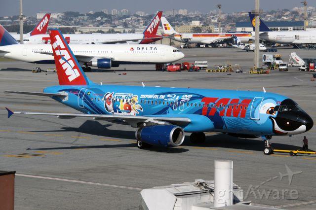 Airbus A320 (PT-MZN) - SPECIAL COLOR - MOVIE BLUE