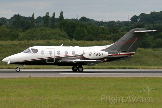 Beechcraft Beechjet (G-FXDT) - Flairjet Hawker 400XT landing on rwy 26 on 1-Jul-19 arriving from LFLC as FLJ54.