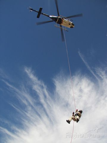 Bell 407 (N52AZ) - Arizona DPS Bell 407 longline insertion training.