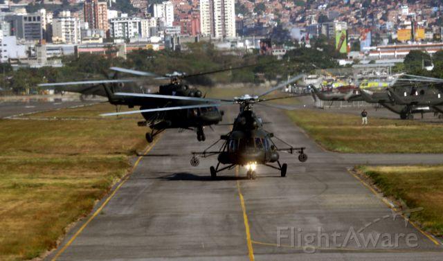 EV0679 — - Venezuelan Army Mil Mi-17 landing on main taxiway.