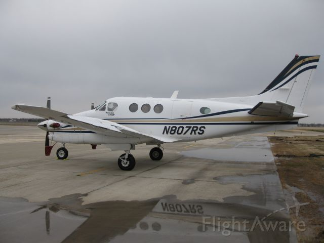 Beechcraft King Air 90 (N807RS) - Taken April 29, 2011 on the Fargo Jet Center ramp.