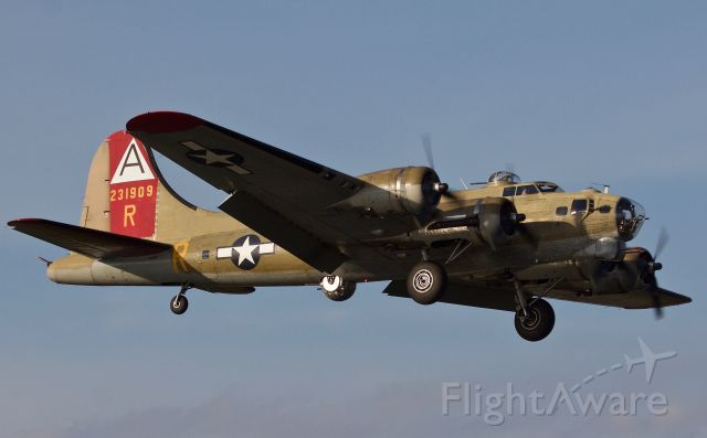Boeing B-17 Flying Fortress (N93012) - Collings Foundation B-17G Flying Fortress inbound during golden hour to Dallas Love Field