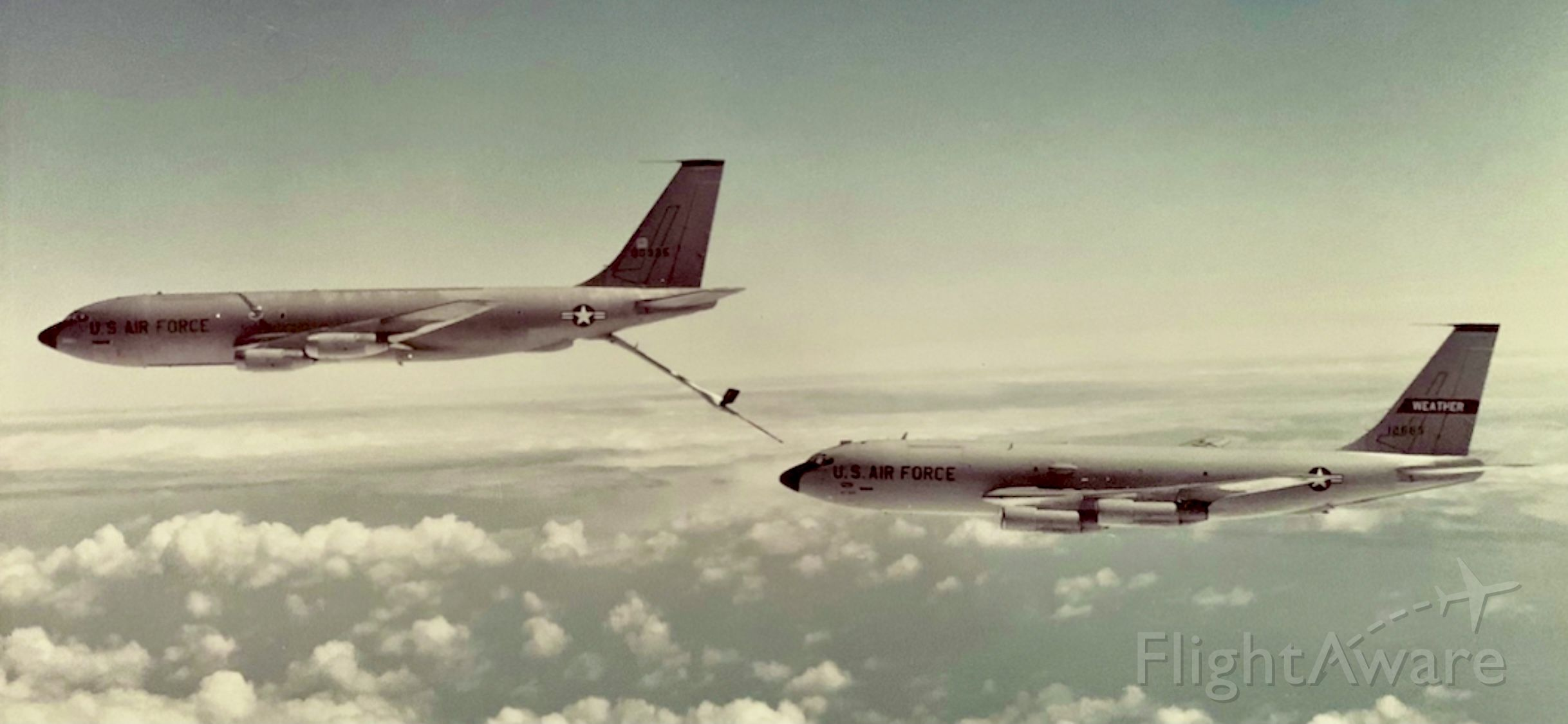 N12665 — - Inflight air refueling during operational mission in support of Nuclear Test Ban Treaty Safeguard D  October 1979