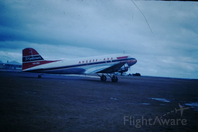 Douglas DC-3 (VH-INC) - Ansett-ANA DC3 at Flinders Island, circa 1960