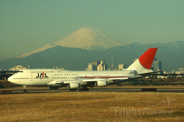 Boeing 747-400 (domestic, no winglets) (JA8907) - Taxing at Tokyo-Haneda Intl Airport on 2004/02/06