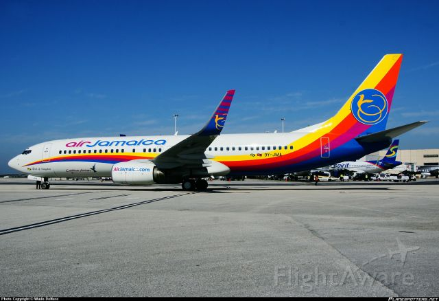Boeing 737-700 (9Y-JMA) - This photo taken by Wade Denero of Air Jamaica B737-800 new livery at FLL.