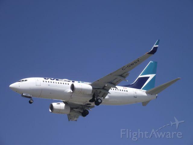 BOEING 737-600 (C-GWSV) - landing at yvr