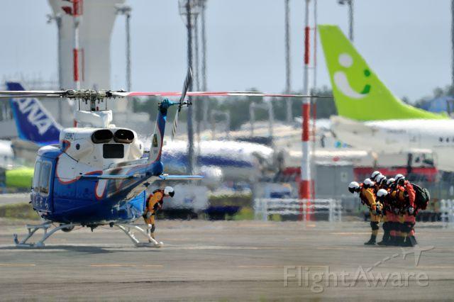 JA99MZ — - AIR RESCUE TEAM MIYAZAKI(Miyazaki Prefecture JPN)br /NAME:(あおぞら=AOZORA)=blue sky br /Bell 412EP