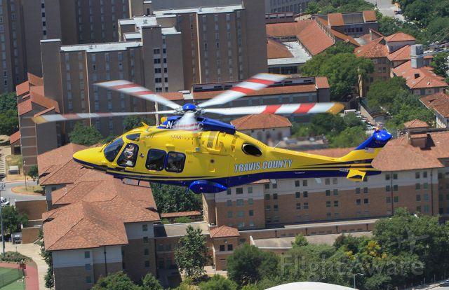 N308TC — - STARFlight AW169 flying over University of Texas Austin campus