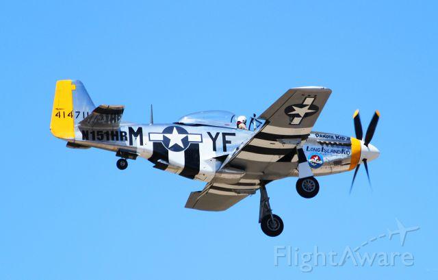 North American P-51 Mustang (N151HR) - Approaching RWY 8 at BQN