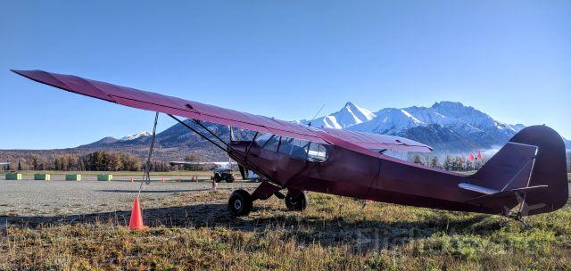 Piper NE Cub (N70744) - Tie-down yard,Palmer Municipal Airport AK