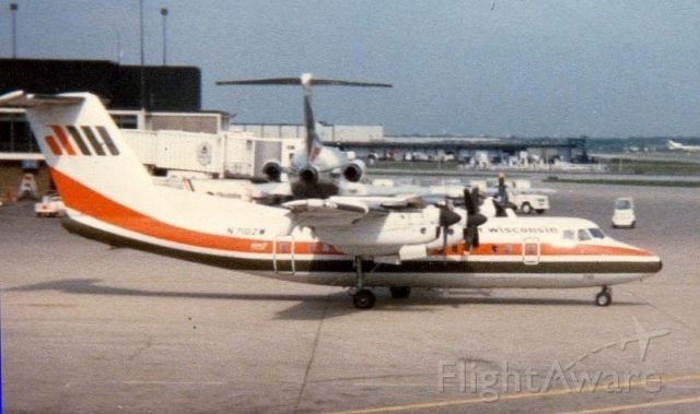 N710ZW — - One of the unique aircraft once serving OHare Airport seen taxiing out on 2 Jun 1983.