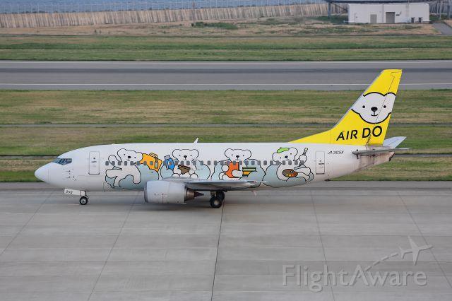 Boeing 737-500 (JA305K) - AIR DO (Hokkaido International Airlines)  ICAO:ADO <br />Specially painted plane