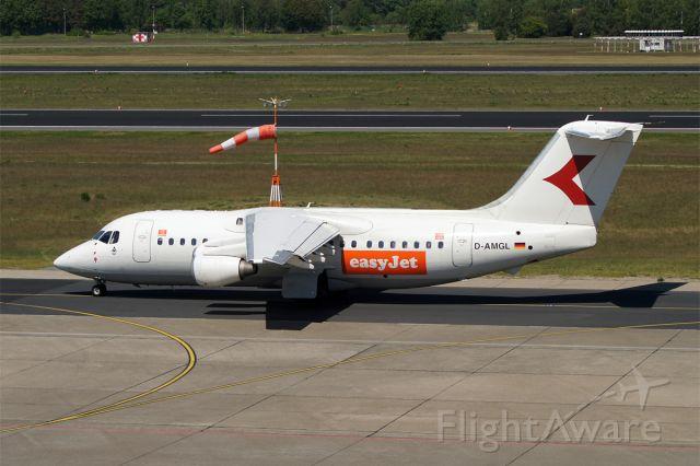 British Aerospace BAe-146-200 (D-AMGL) - British Aerospace BAe 146-200, WDL Aviation operated by easyJet, D-AMGL, EDDT Airport Berlin-Tegel, 07.May 2018