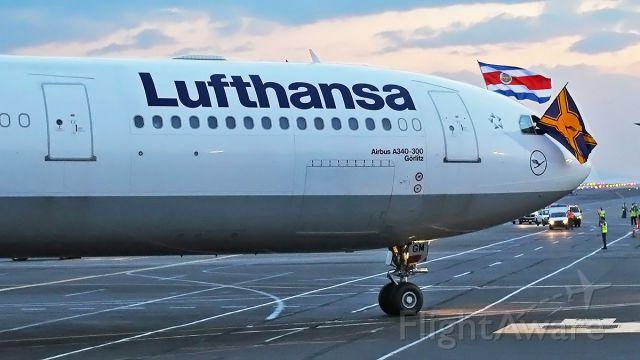 Airbus A340-300 (D-AIGM) - Inaugural Fligth to SJO