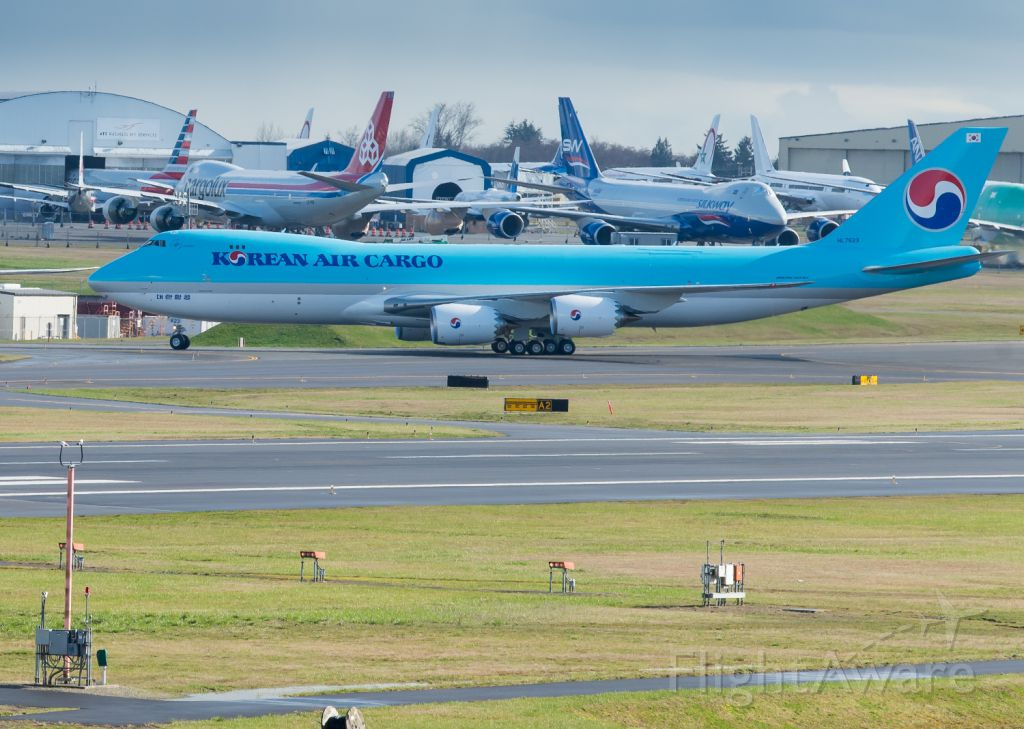 BOEING 747-8 (HL7623) - Taxing back to its apron after completing flight tests
