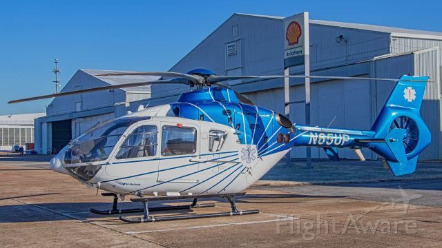 Eurocopter EC-635 (N65UP) - December 11, 2018, Smyrna, TN -- This Air Methods EC135 awaits at the Vanderbilt Lifeflight Maintenance Hangar for a crew to pick her up.  This is the spare helicopter for use when the front-line fleet needs maintenance.
