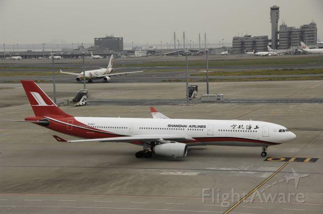 Airbus A330-300 (B-6127) - Taxing at Tokyo-Haneda Intl Airport on 2014/10/27