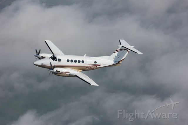 Beechcraft Super King Air 200 (N48CV) - Executive Air Taxi's King Air 200.  Tues 6/26/2012 Near Bismarck