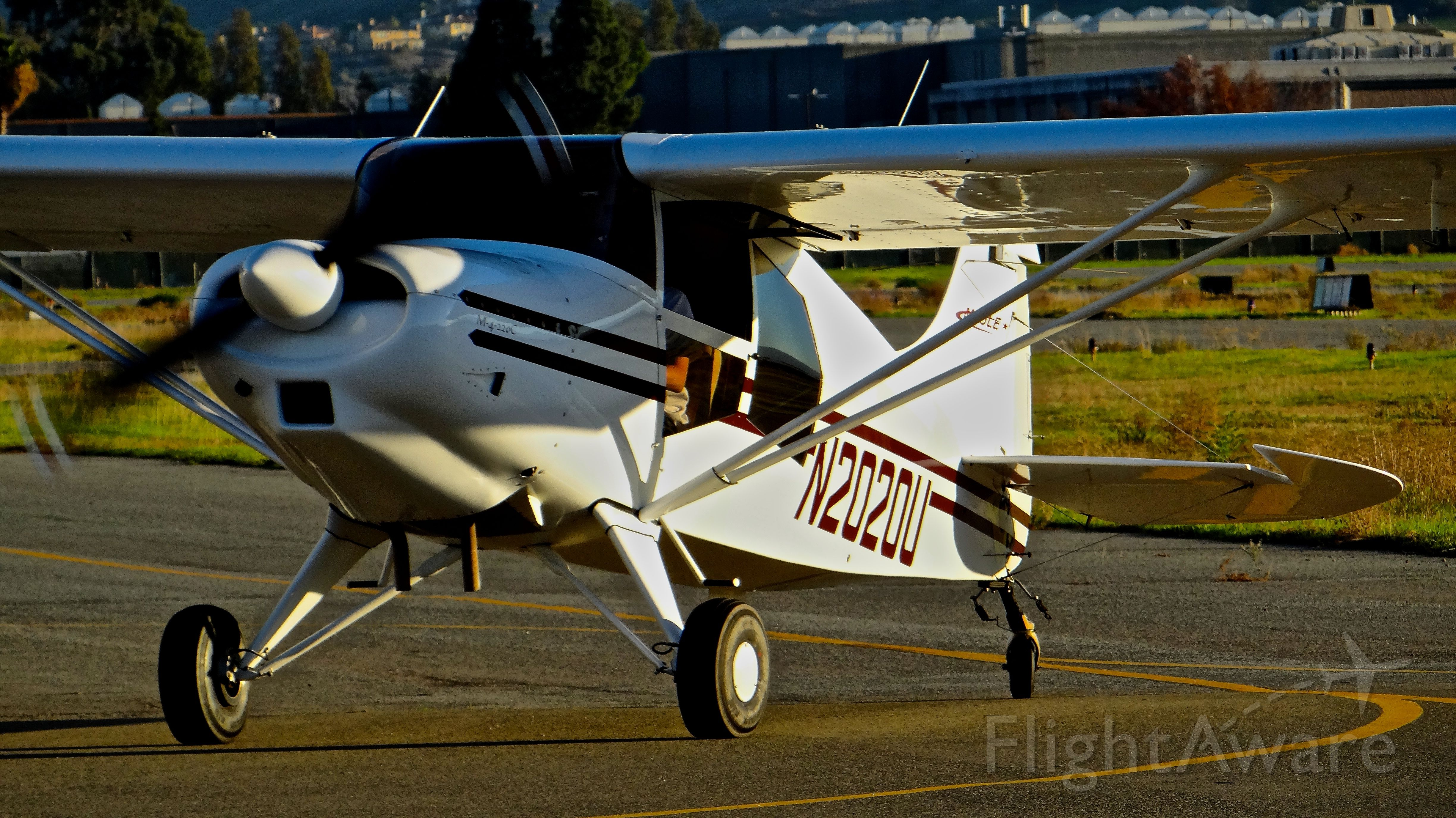 MAULE M-4 Rocket (N2020U) - Local Maule taxing in after patterns at Reid Hillview Airport, San Jose, CA.