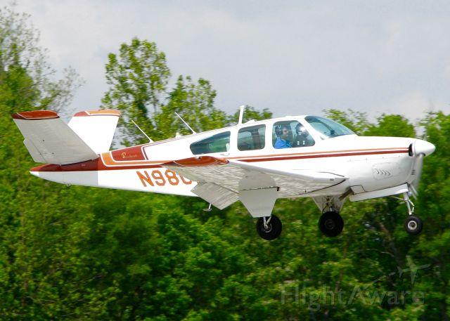 Beechcraft 35 Bonanza (N98GM) - At Downtown Shreveport.