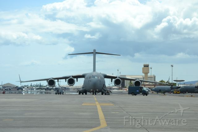 Boeing Globemaster III — - A USAF C-17 parked at Hickam field on the island of Oahu in Hawaii.