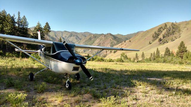 Cessna Skylane (N225M) - June 18, 2016 at Cabin Creek Airstrip in Idaho.