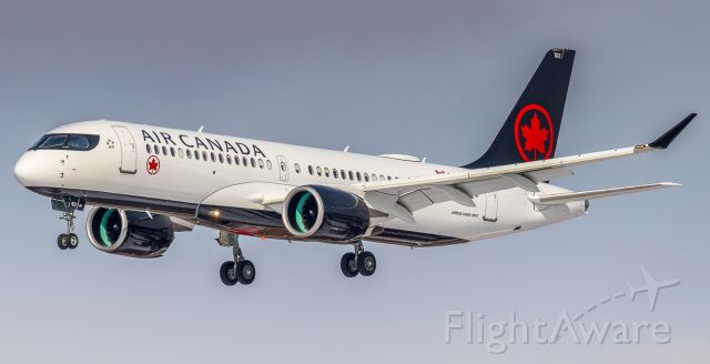 Airbus A220-300 (C-GJXE) - Ship # 102 the second A220-300 for the Air Canada fleet arrives in nice light from Montreal.