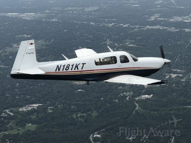 Mooney M-20 (N181KT) - Beautiful air-to-air taken from G36 while enroute to ICT.