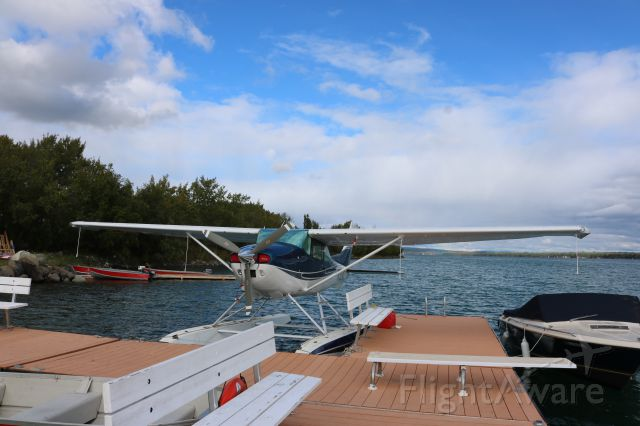 Cessna Skylane (N1394S) - Float dock. At Flying U Ranch Green Lake, BC Canada Labour Day Long Weekend.