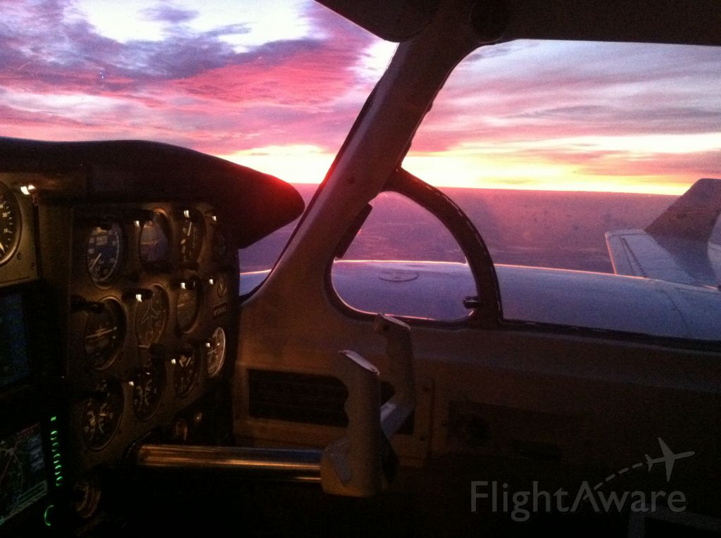 Piper Navajo (N124AG) - First 135 flight with beautiful sunrise