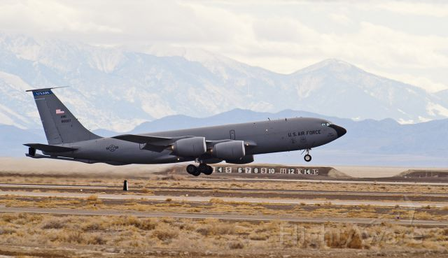 Boeing C-135B Stratolifter — - C135 air tanker practicing downwind touch-and-go