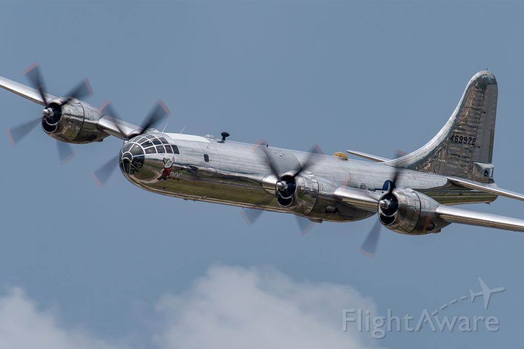 Boeing B-29 Superfortress (N69972) - 2019 Star Spangled Salute Air & Space Show at Tinker AFB, Oklahoma.