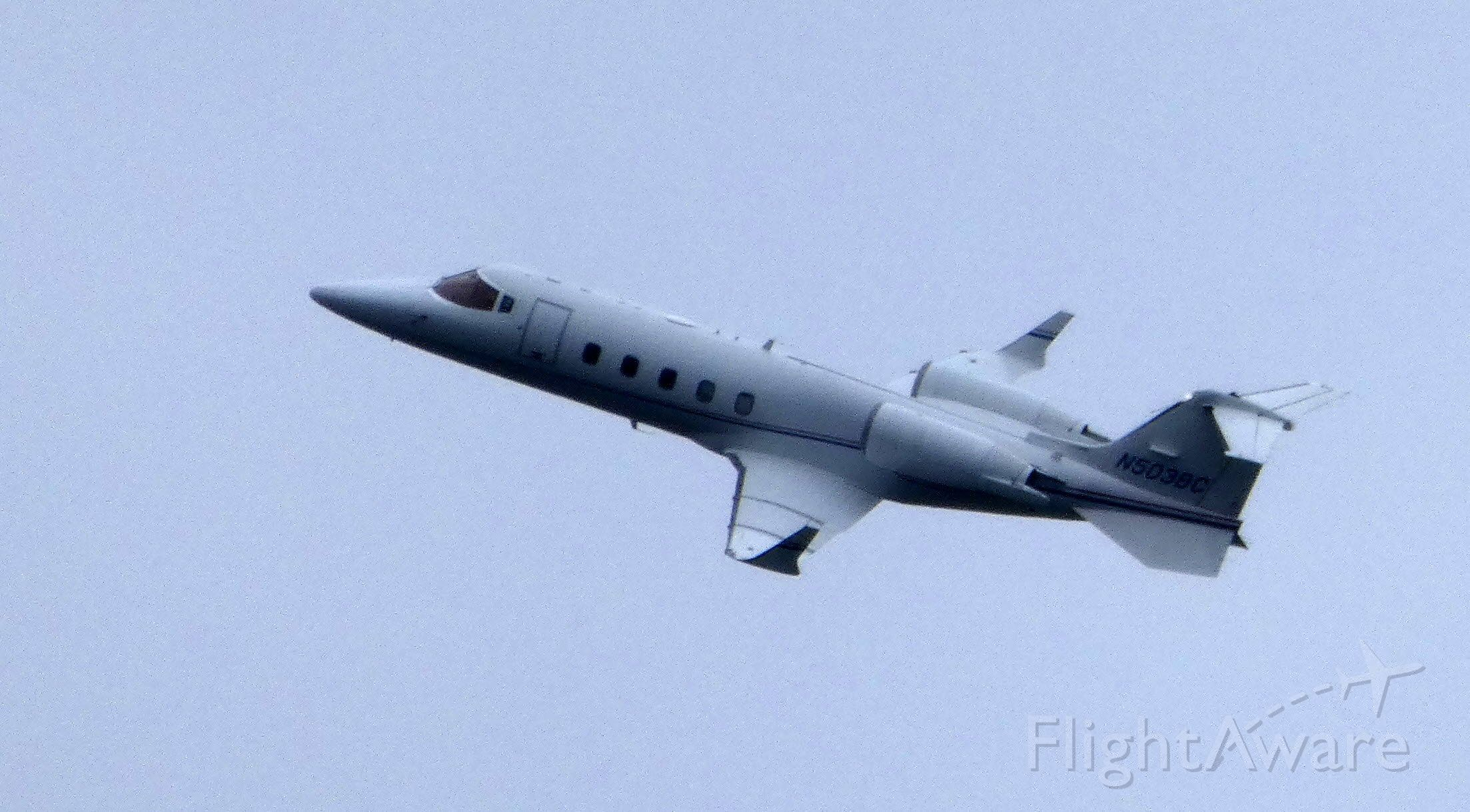 Learjet 60 (N503BC) - Shortly after departure on this IFR day is this 2001 Learjet 60 in the Autumn of 2019.