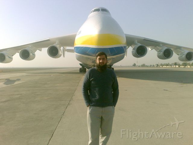 Antonov An-225 Mriya — - My friend Imran Warris with Mriya :-)
