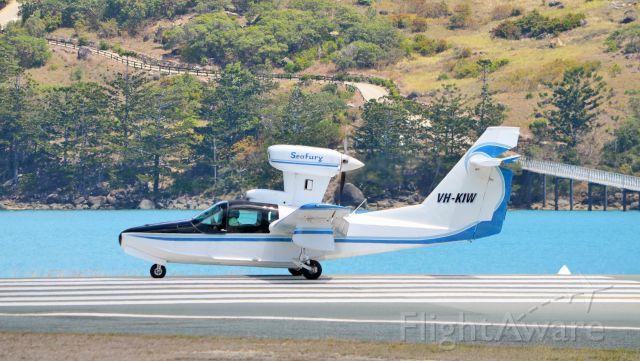 LAKE LA-200 (VH-KIW) - Departing Hamilton Island, Qld, RWY 14