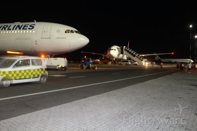 A6-EMW — - Emirate a6-emw standing behind turksih airline